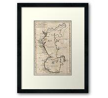 Vintage Map of The Caspian Sea (1730) Framed Print
