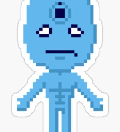 Dr. Manhattan Pixels Sticker