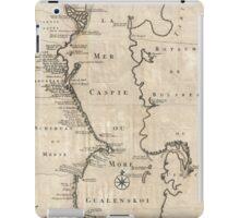 Vintage Map of The Caspian Sea (1730) iPad Case/Skin