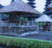 Balinese Temple by the water Sticker