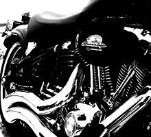Harley Davidson Rocker C B&W by BaliBuddha