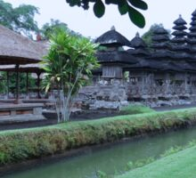 Balinese Temple with flower Sticker