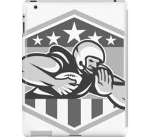 American Football Running Back Fend-Off Crest Grayscale iPad Case/Skin
