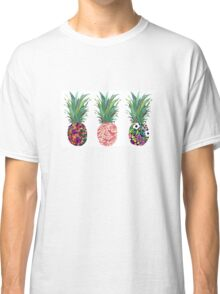 3 Patterned Pineapples Classic T-Shirt