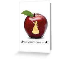 Eat you vegetables Greeting Card