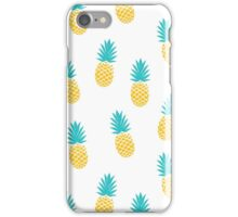 Pineapple Party in White iPhone Case/Skin