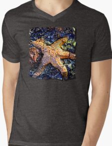 Yachats Oregon - Sea Star Mens V-Neck T-Shirt