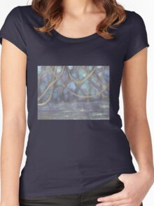 Night in the Forest Women's Fitted Scoop T-Shirt