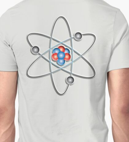 ATOM, ATOMIC, Lithium atom, model, SMALL, Physics, Neutrons, Protons, Electrons, Nuclear, Energy, Fission, Fusion  Unisex T-Shirt