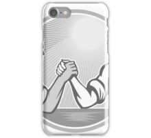 Businessman Office Worker Arm Wrestling Grayscale iPhone Case/Skin