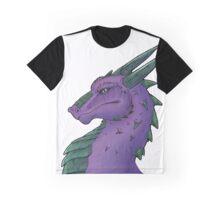 Purple Dragon Bust Graphic T-Shirt