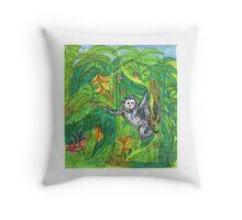 Secret Monkey  Throw Pillow