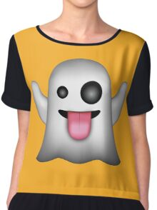 Ghost Emojy Chiffon Top