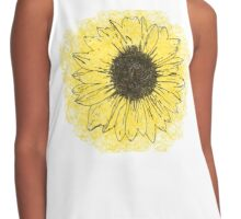 Sunflower Drawing Contrast Tank