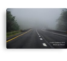 Driving to oblivion  Canvas Print