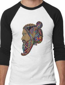 Abstract Bearded Man  Men's Baseball ¾ T-Shirt