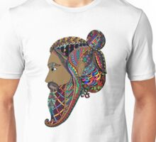 Abstract Bearded Man  Unisex T-Shirt
