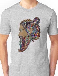 Abstract Bearded Man  Unisex T-Shirt