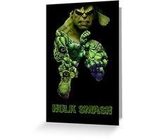 """Hulk """"Hulk Smash"""" Greeting Card"""