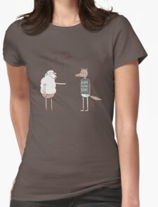 Wolf In Sheep's Clothing Womens Fitted T-Shirt