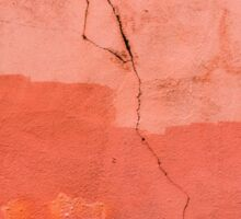 CRACKS ON THE WALL (PINK) Sticker