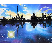 A day and Night in Paris Photographic Print