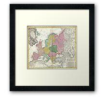 Vintage Map of Europe (1743) Framed Print