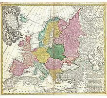 Vintage Map of Europe (1743) Photographic Print