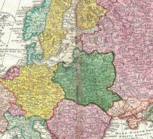 Vintage Map of Europe (1743) Sticker