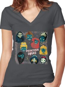 Princess Squad Women's Fitted V-Neck T-Shirt