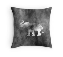 Grunge Elephant Art Throw Pillow