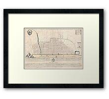 Vintage Map of London England (1744) Framed Print