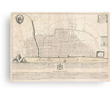 Vintage Map of London England (1744) Canvas Print