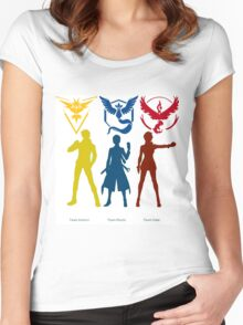 team mystic, valor and instinct Women's Fitted Scoop T-Shirt