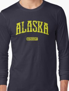 Alaska Represent (Yellow Print) Long Sleeve T-Shirt