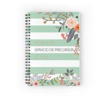 Escuela del Servicio de Precursor (Design no. 2) Spiral Notebook