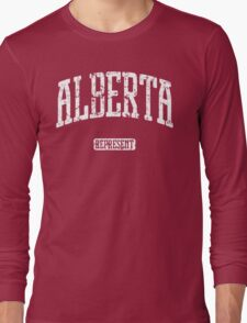 Alberta Represent (White Print) Long Sleeve T-Shirt