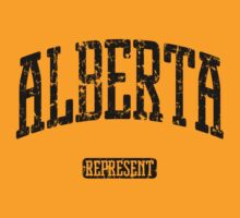 Alberta Represent (Black Print) by smashtransit