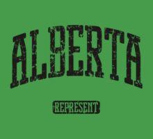 Alberta Represent (Black Print) Kids Clothes