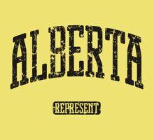 Alberta Represent (Black Print) Kids Tee