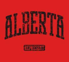 Alberta Represent (Black Print) One Piece - Long Sleeve