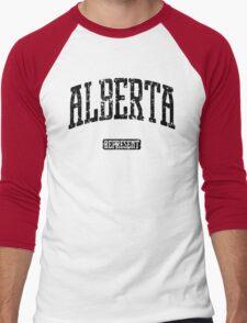 Alberta Represent (Black Print) Men's Baseball ¾ T-Shirt