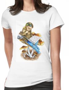 Blueleg Brownie Mushroom Fairy Womens Fitted T-Shirt