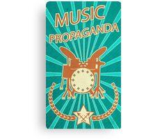 Music Propaganda Drum Set Canvas Print