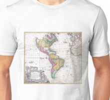 Vintage Map of North and South America (1746) Unisex T-Shirt