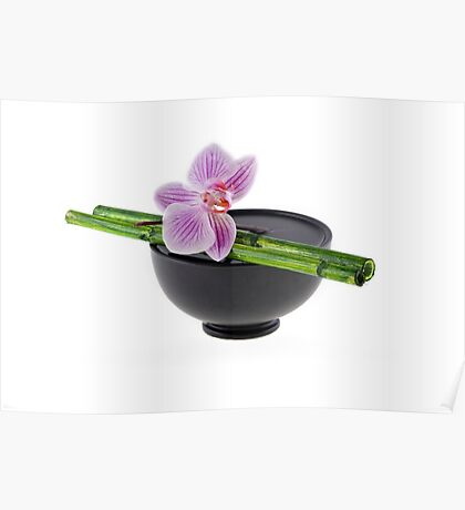 Orchid Zen Poster