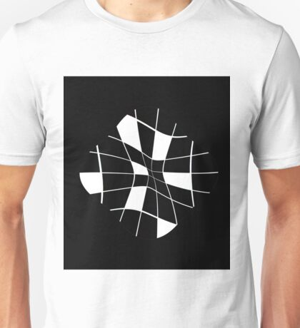 black and white abstract flower Unisex T-Shirt
