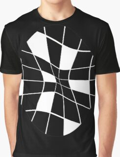 black and white abstract flower Graphic T-Shirt