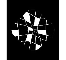 black and white abstract flower Photographic Print
