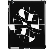 black and white abstract flower iPad Case/Skin
